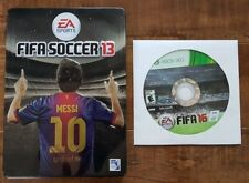 FIFA Soccer 13 (Xbox 360, 2012) + STEELBOOK + FIFA 16 (Xbox 360, 2015)