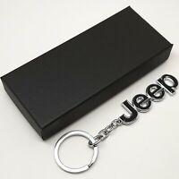 Jeep Metal Keychain Car Key Ring Chain Auto Keyring Pendant Wrangler Cherokee