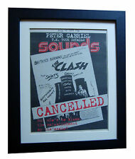 THE CLASH+Sounds+Birmingham 1977+POSTER+AD+RARE ORIGINAL+FRAMED+FAST GLOBAL SHIP