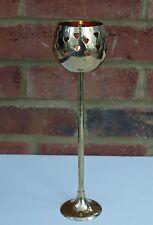 Tall TEA LIGHT Portacandele Cuore 29 cm Elegante Oro Metallo Calice Home Regalo Nuovo