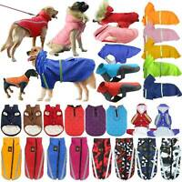 Pet Dog Cat Waterproof Clothes Hoodie Padded Rain Coat Vest Warm Jacket Raincoat