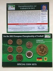 P25-4-2) BRD KMS bankfrisch zur EM 2012 in Deutschland, mit Medaille