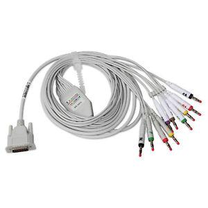 12 lead wire ECG Cable,ECG Lead for CONTEC ECG Machine,EKG Electrocardiograph