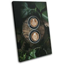 Coffee Tropical Barista Food Kitchen SINGLE DOEK WALL ART foto afdrukken
