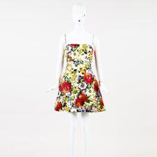 Dolce & Gabbana Multicolor Cotton Blend Floral Print Dress SZ 42