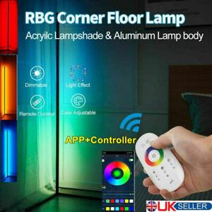 Modern Minimalist RGB Colour Changing LED Corner Floor Lamp Mood Light W/Remote