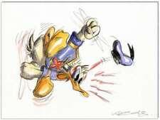 Grantinsch Général: Original PLUME ET AQUARELLE: Donald Duck en rage v/24x32 cm