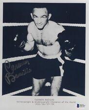 Carmen Basilio Signed 8x10 Photo BAS Beckett COA Boxing Champ Picture Autograph