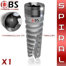 1X Dental Implant Spiral Titanium Sterile - DBS Original Brand - Hex 2.42 lab