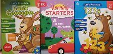 Workbooks for Kids- Lot of 3 Pre K- Basic Concepts, 1,2,3's, & Morning Starters