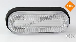 12V-24V LED light REAR FRONT side marker white trailer TRUCK LORRY LAMP ADR