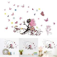 Cute DIY Lovely Girl Art Wall Stickers For Kids Rooms PVC Decals Wall W4A5