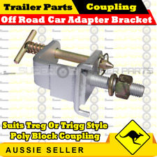 OFF ROAD CAR ADAPTER BRACKET SUIT TREG OR TRIGG STYLE POLY BLOCK COUPLING