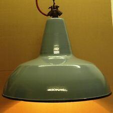 Antica Lampada a sospensione = SMALTATO Bauhaus di 1935 Top bolich ART DECO fabbrica enorme