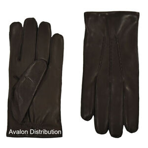 Ralph Lauren Purple Label Leather Cashmere Gloves New $295