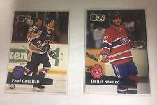 1991-92 Pro Set Hockey (2) Card Lot #214 Paul Cavallini  #128 Denis Savard