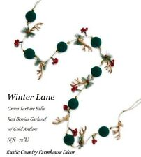 Winter Lane Garland  Deer Antlers (6' ft ) Rustic Country Farmhouse Décor