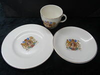 Commemorative Cup, Saucer & Tea Plate (Trio)- Queen Elizabeth II 1953 Coronation