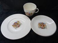 Commemorative Cup, Saucer & Tea Plate (Trio)- Queen Elizabeth II 1953 Coronation