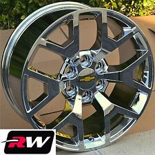 2014 GMC Sierra Wheels Rims Chrome 20 inch 20x9 Chevy Silverado Suburban Tahoe