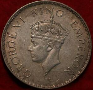1940-B British India 1 Rupee Silver Foreign Coin