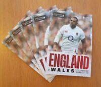 ENGLAND v WALES Rugby Union Six Nations Twickenham Programme 7/3/20