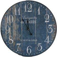 """Wanduhr Wand-Uhr Wall-Clock """"Antiquités de Paris - 57 Rue de Lille"""" Ø ca. 60 cm"""
