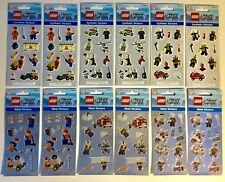 1 Pack Of 12 Sticker Sheets LEGO CITY Police Metal & Synthetic Stickers stocking