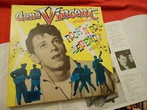 GENE VINCENT. Box Edition 30 Cm 1977. 4xLps + 1x45t. Livret.'Rock'n'roll legend'