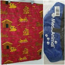 BNWOT Medium Pet Bed/Mattress Red Dog & Kennel Print & Travel Dog Water Bowl.