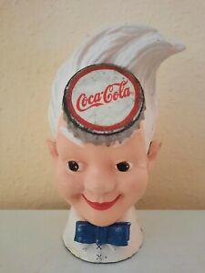 Alte Coca-Cola Spardose  Spriteboy Kopf 20 cm. - Werbefigur, 3100 g. selten/rar.