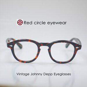 Retro Johnny Depp Eyeglasses Red Tortoise acetate glasses RX eyewear Unisex M