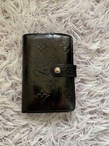louis vuitton black vernis Bifold wallet