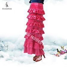 SHARON TANG Modest Apparel Stretch Velvet Layer Ruffle Skirt M ST124081009-18