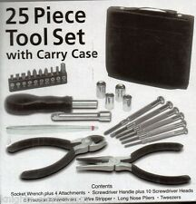 25pc PRECISION TOOL SET with CARRY CASE  watch-makers hobby electronics