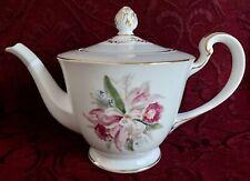 Noritake Margarita #5049 - Full Size (LARGE) Teapot, Gold Trim - Japan