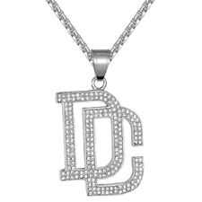 Bling Stainless Steel Pendant Free Chain Dc Dream Chaser Grind Rapper Style