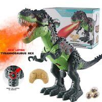Remote Control Walking Dinosaur Toy Simulation Dinosaur Spray Christmas Gift.
