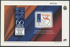 Venezuela 1998 MNH Sheet | Scott 1600 | Blanco 3227 | Comptroller General