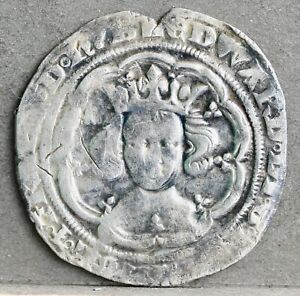 Edward III Hammered Silver Groat. London, Pre-Treaty Series C, 1351-1361. N.1147