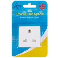 UK to USA, JAPAN, MEXICO & CANADA Power Adaptor Plug Converter Travel Adapter