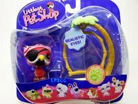 Littlest Pet Shop Portable Pet Real Feel PIRATE PARROT lot #331 Rare Retired NIB