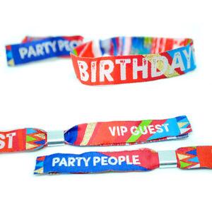 BIRTHDAYFEST Birthday Party Wristbands Favours Festival Party Wristband Bracelet