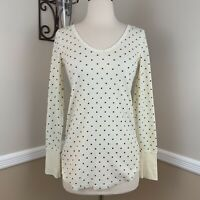 Free People We The Free Thermal Tee Polka Dot Top Long Sleeve XS Extra Small