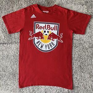 Adidas MLS New York Red Bulls Soccer Shirt Red Mens Medium