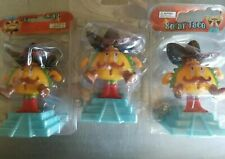 3Pc Mr. Taco Fun Mexican Food Bobblehead Toy Solar Power Car Dash Office Gift