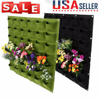 36 Pocket Wall Hanging Planting Bag Vertical Flower Grow Pouch Planter Garden US