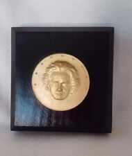 BEETHOVEN GREAT GERMAN COMPOSER & PIANIST MOUNTED MEDAL PLAQUE