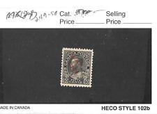 """Canada MINT OG Scott #MR2D 50 cent black overprint war tax in red """"War Tax"""""""