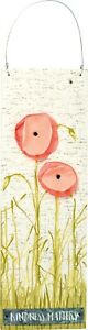Primitives by Kathy Kindness Matters Red Poppy Flowers Wall Decor 12 Inches